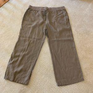 Style & company plus size linen pants size 3x
